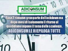Scadenze in tempo di Covid 19, vademecum Adiconsum per non sbagliare