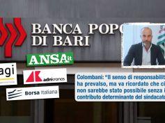 PopBari salva, Colombani, prevalso senso responsabilità e ruolo centrale sindacato