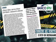 Banco Bpm, ancora chiuse 250 filiali, sindacati in allarme