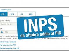 Servizi Inps, da ottobre addio al PIN