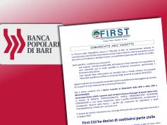Popolare di Bari, First Cisl si costituisce parte civile nel processo