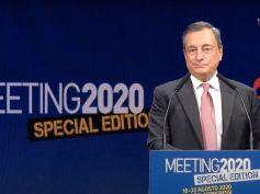 Mario Draghi al Meeting 2020, il video dell'intervento