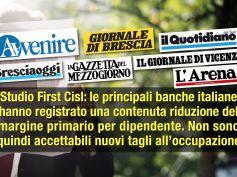 Studio First Cisl sui giornali, banche resistono al Covid, tagli inaccettabili