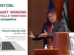 Smart working, la relazione di Andrea Scaglioni, ufficio studi First Cisl, il video