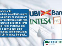 Intesa-Ubi, First Cisl, solo uscite volontarie, assunzioni per la rete
