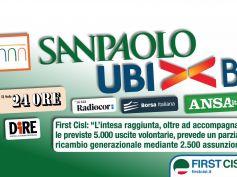 Intesa-Ubi, First Cisl, accordo per staffetta generazionale, esodi con assunzioni