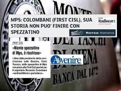 Mps, Colombani a Ruocco, un polo bancario pubblico non cancelli identità istituti