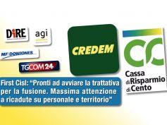 Nozze Credem – CR Cento, First Cisl, svolta storica ma vigileremo su occupazione