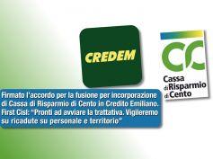 Fusione Credem – CR Cento, First Cisl, svolta storica, attenzione a occupazione