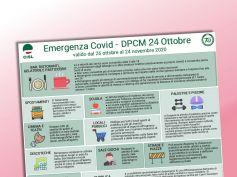 Coronavirus, Dpcm 24 ottobre, il volantino della Cisl