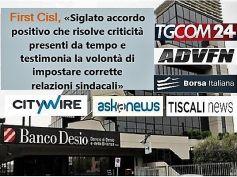 Banco Desio, firmato accordo, First Cisl, intesa positiva, risolve vecchi problemi