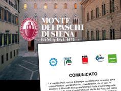 Monte dei Paschi di Siena, comunicato unitario