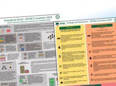 Coronavirus, Dpcm 3 novembre, zona rossa, arancione, gialla, i volantini della Cisl