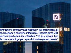 Deutsche Bank, accordi positivi su occupazione e contratto integrativo
