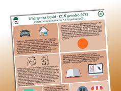 Coronavirus, il volantino della Cisl con le misure dal 7 al 15 gennaio