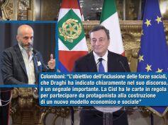 Draghi, la sfida della ricostruzione e il coinvolgimento del sindacato