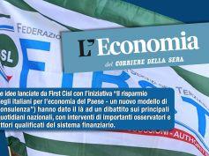 Il risparmio al servizio della ripresa, si accende il dibattito sulle proposte First Cisl