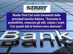 Start Magazine riprende studio First Cisl su trimestrali principali banche italiane