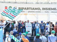 Ripartiamo insieme, mobilitazione unitaria Cgil Cisl Uil. Sbarra, il Paese ha bisogno di un nuovo patto sociale