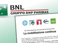 Sulla stampa, Bnl non smentisce cessioni ramo d'azienda, sindacati, mobilitazione continua e sarà più intensa