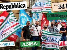 Sulla stampa, First Cisl e il presidio al Mef per Mps. Stato resti nel capitale e istituisca tavolo di confronto