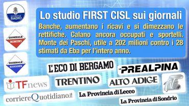Pandemia non compromette i bilanci delle principali banche italiane, lo studio di First Cisl sui giornali