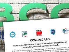 Incontro tra Federcasse, i rappresentanti dei Gruppi Bancari Cooperativi, Ips e i sindacati