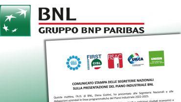 Bnl, presentato il piano industriale, sindacati contrari a ipotesi esternalizzazioni
