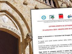 Mps, sciopero del 24 settembre, la lettera aperta ai cittadini