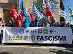 Manifestazione Cgil Cisl Uil, First Cisl c'è. Sbarra, la democrazia sarà sempre più forte dei suoi nemici