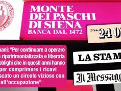 Stop a Unicredit in Banca Monte dei Paschi. Colombani sui giornali, futuro Mps con meno obblighi e più capitale